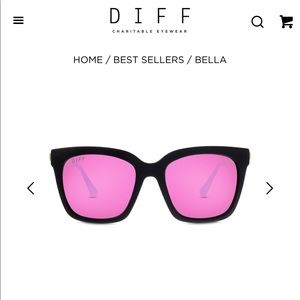 Like New Diff Eyewear Bella Sunglasses